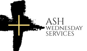 Ash Wednesday Services, March 6 Noon & 7:00 PM